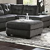 Flash Furniture Signature Design by Ashley Accrington Oversized Accent Ottoman in Granite Microfiber For Sale