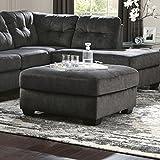 Flash Furniture Signature Design by Ashley Accrington Oversized Accent Ottoman in Granite Microfiber For Sale