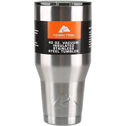 f460a3d055e Amazon.com | Ozark Trail 40oz. Vacuum Insulated Stainless Steel Tumbler:  Cups, Mugs, & Saucers