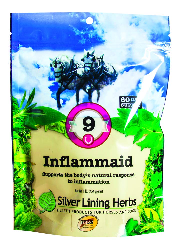 Supports a Horses Natural Healing Response To Inflammation Aches and Pains | Relieves Discomfort in a Horses Muscles Tendons and Joints | 1 Pound Resealable Bag |Made by Silver Lining Herbs in the USA