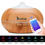 ZOKOP Aromatherapy Essential Oil Diffuser Wood Grain Ultrasonic Cool Mist Diffusers with 7 Color LED Lights Waterless Auto Shut-Off, 110V 550 mL