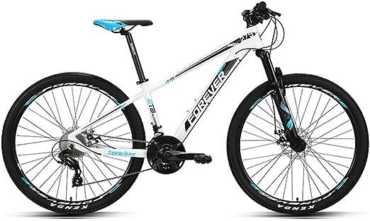 QIMENG Bicicleta Montaña Adulto con Doble Freno De Disco Bicicleta Montaña 29