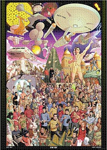 Aquarius Star Trek 50th Anniversary 3000 Piece Jigsaw Puzzle (Puzzle Trek Jigsaw Star)