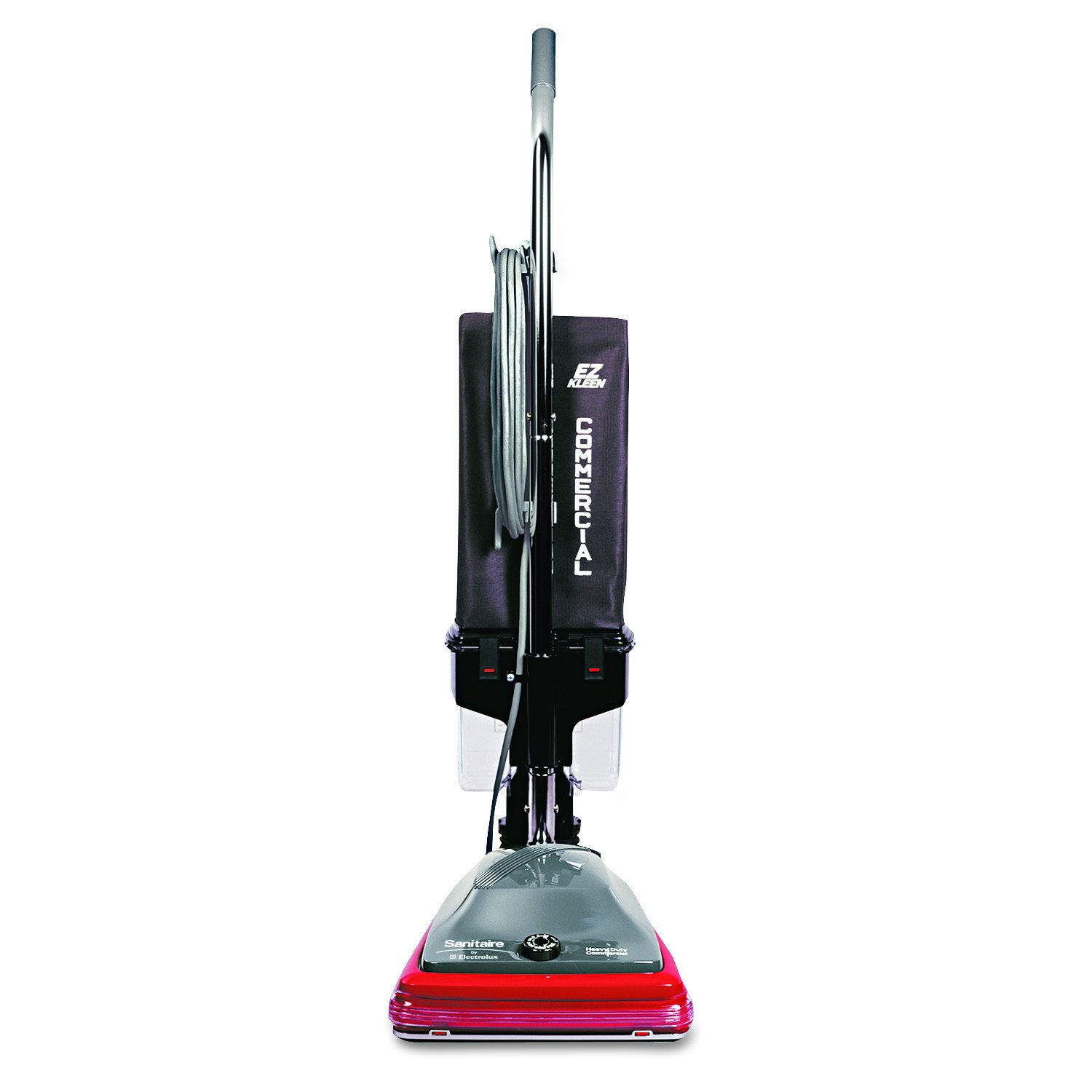 Sanitaire EUKSC689A Lightweight Uprights Commercial Vacuum, 30' Cord, 5 Amps Power, 21-1/2'' Length x 15-1/2'' Width x 9.9'' Height, Red/Black