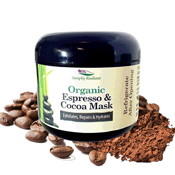 Organic Caffeine Face Mask with Espresso Coffee & Cocoa