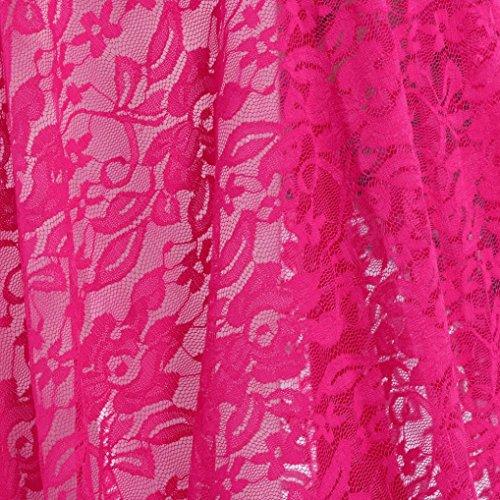 Falda Embarazo Elegante cola Faldas Rosa encaje Elasticidad de Vivo Vestido de embarazadas Maternidad Elegante Slash las de Adeshop alargado Color Puro Vestidos larga mujeres Cuello largos wFxzdU