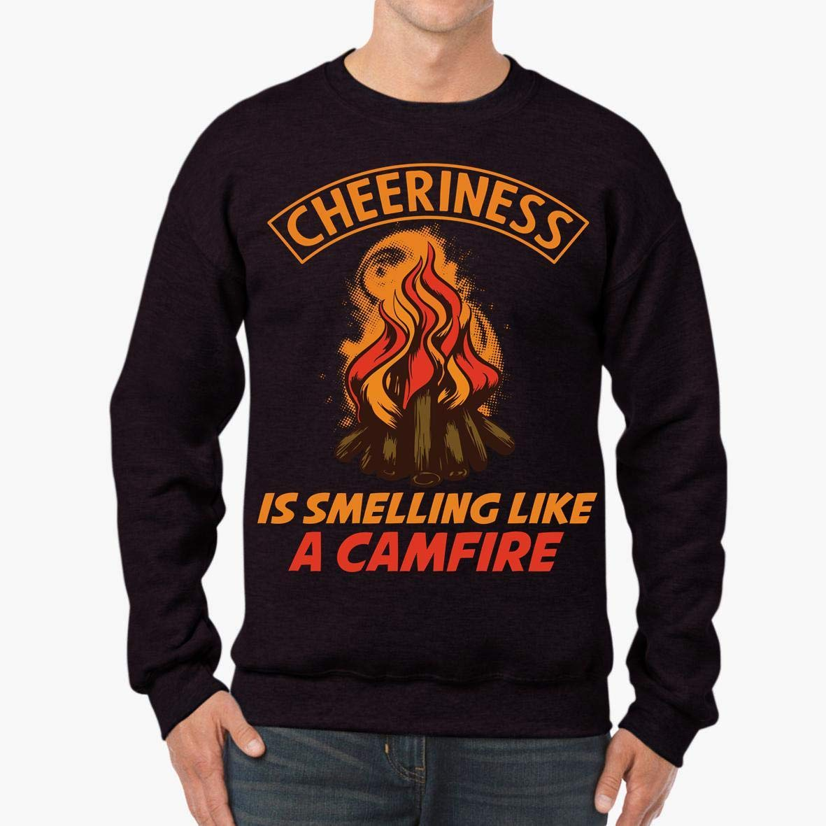 tee Camping Family Campfire Fire RV Funny Unisex Sweatshirt