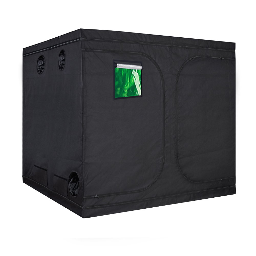 TopoGrow Multiple Sized Indoor Grow Tent 96''X48''X80'' Hydroponic Plant Growing, Metal Corners W/Window, 96''X96''X80''