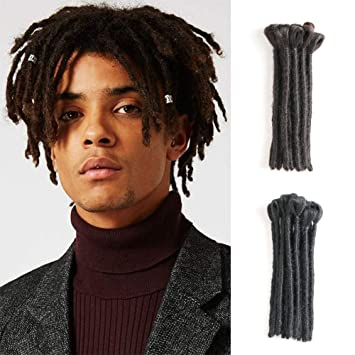 Dreads Handmade Synthetic Dreads M1 Black Dreadlocks Extensions 8inch(20cm)  Fashion Hip,Hop Style 15 Strands/Pack Synthetic Braiding Hair From Maya