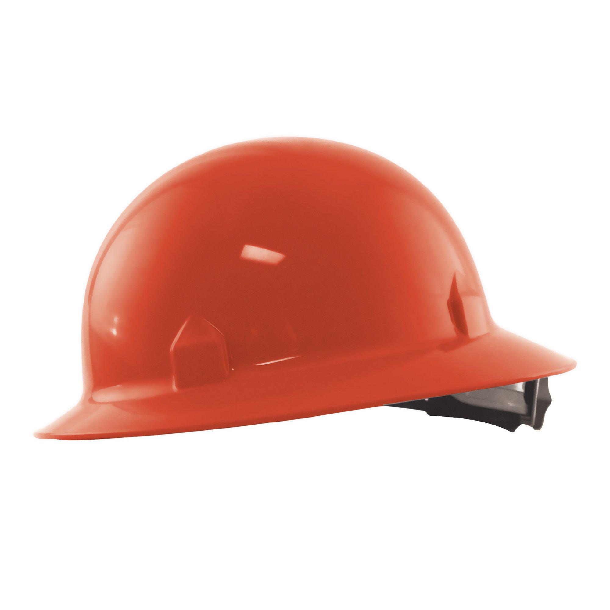 Jackson Safety Blockhead Full Brim Hard Hat (20702), 360-Degree Brim, 8-Point Ratchet Suspension, Red, 12/ Case