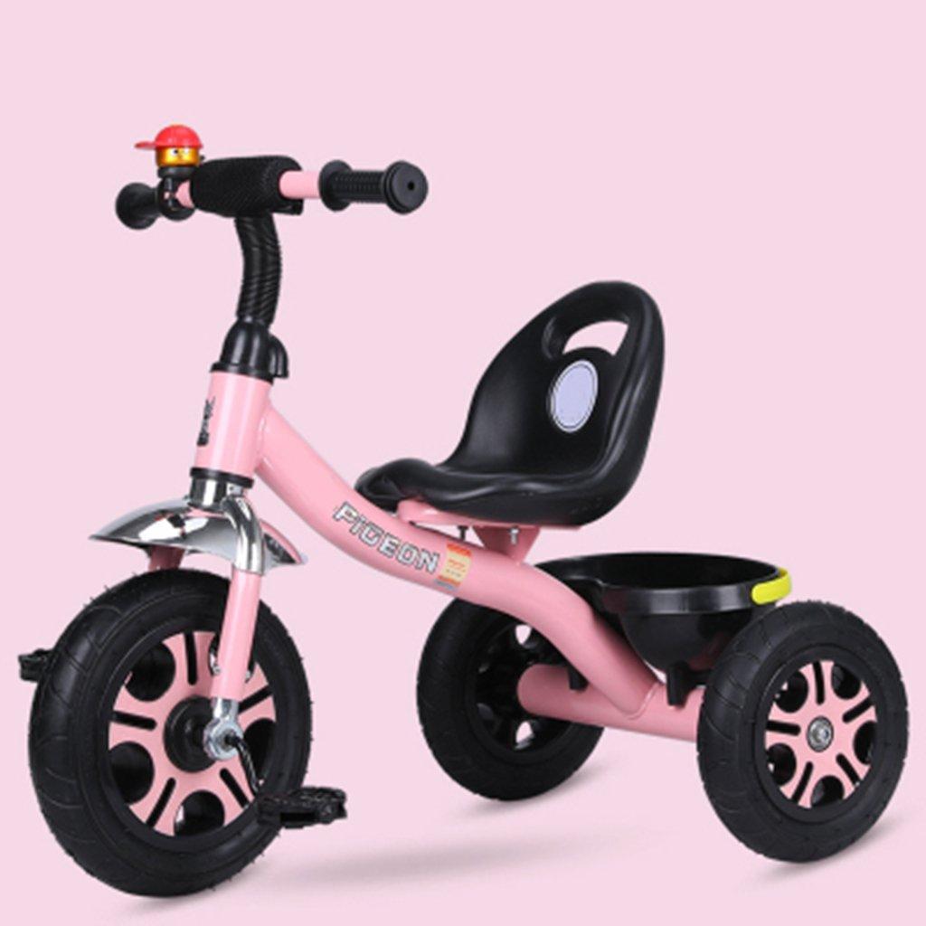 HAIZHEN ランキング総合1位 お買得 マウンテンバイク 子供用三輪車1-6歳の軽量自転車非膨張式防爆チタン空車自転車 新生児 B07DL6TP89 ぴんく ピンク