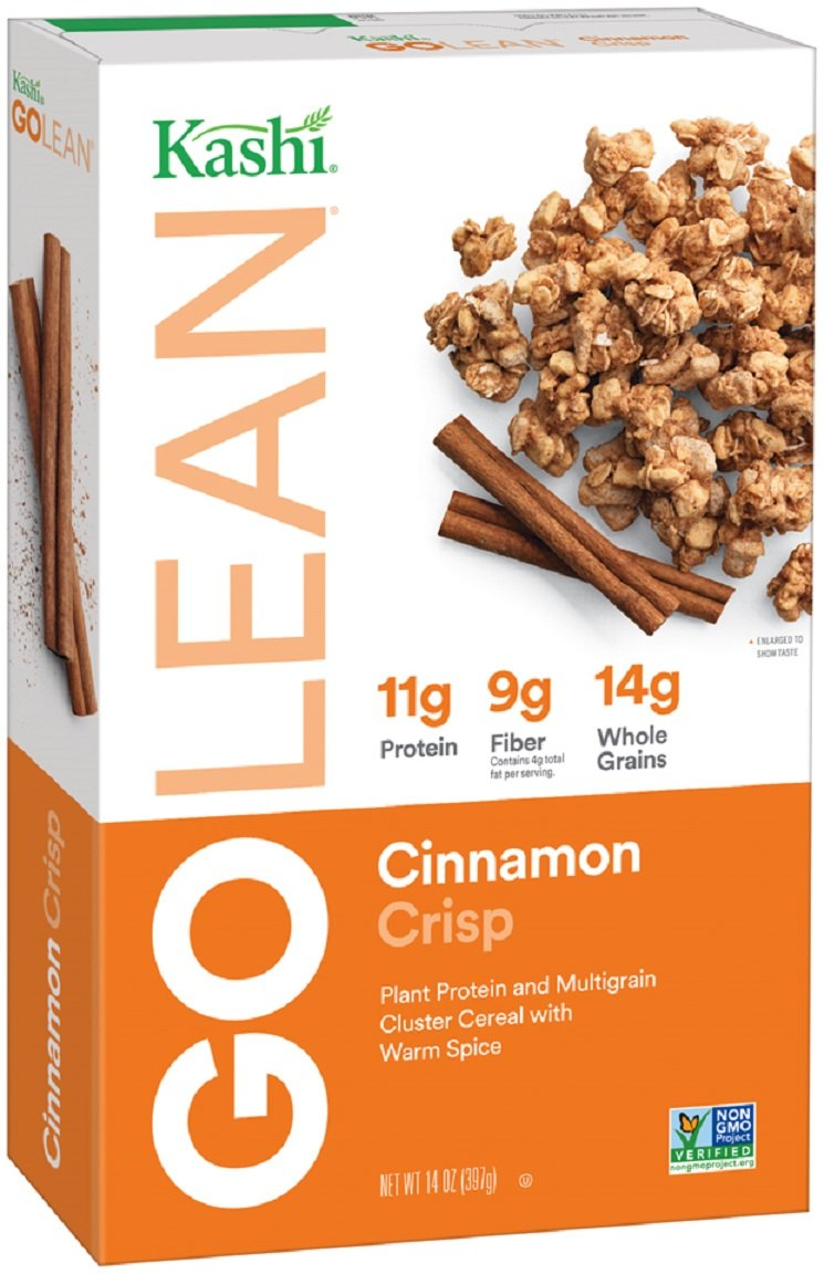 Kashi GOLEAN, Breakfast Cereal, Cinnamon Crisp, Non-GMO Project Verified, 14 oz(Pack of 4)
