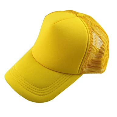 15442a36 Amazon.com: Besooly Unisex Casual Hat Classic Solid Color Baseball Cap  Trucker Mesh Blank Visor Sunhat Adjustable (A): Clothing