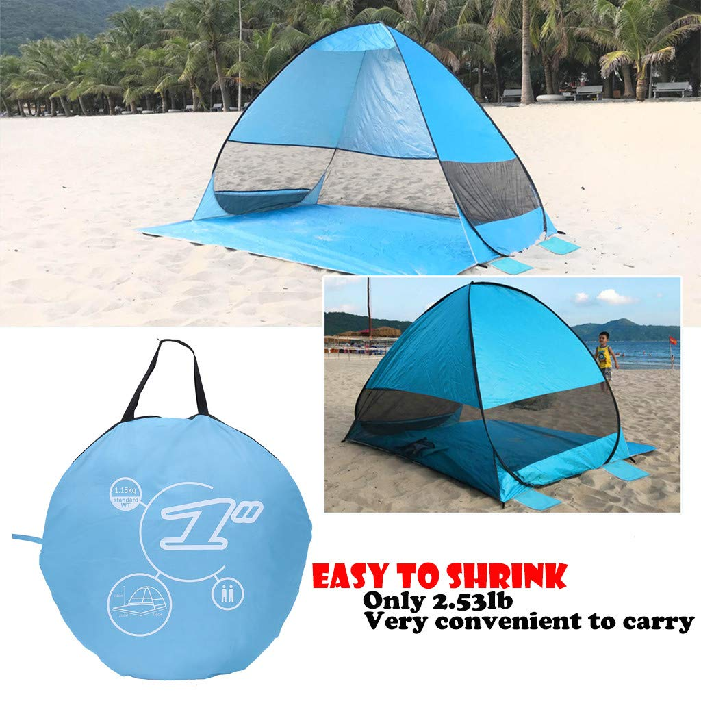 GONGting Pop Up Beach Tent Sun Shelter Portable Outdoors Quick Cabana Anti UV Beach Shelter for 2-3 Person Outdoor Sets up in Seconds (A) by GONGting
