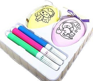 Arts Bricolage Easter Egg Décorateur Kit - Comprend 4 Styles Artisanat Peinture couleur Cartoon Amis pour les enfants (enfants rouge + jaune) Di alta qualità, resistente, degno di sé