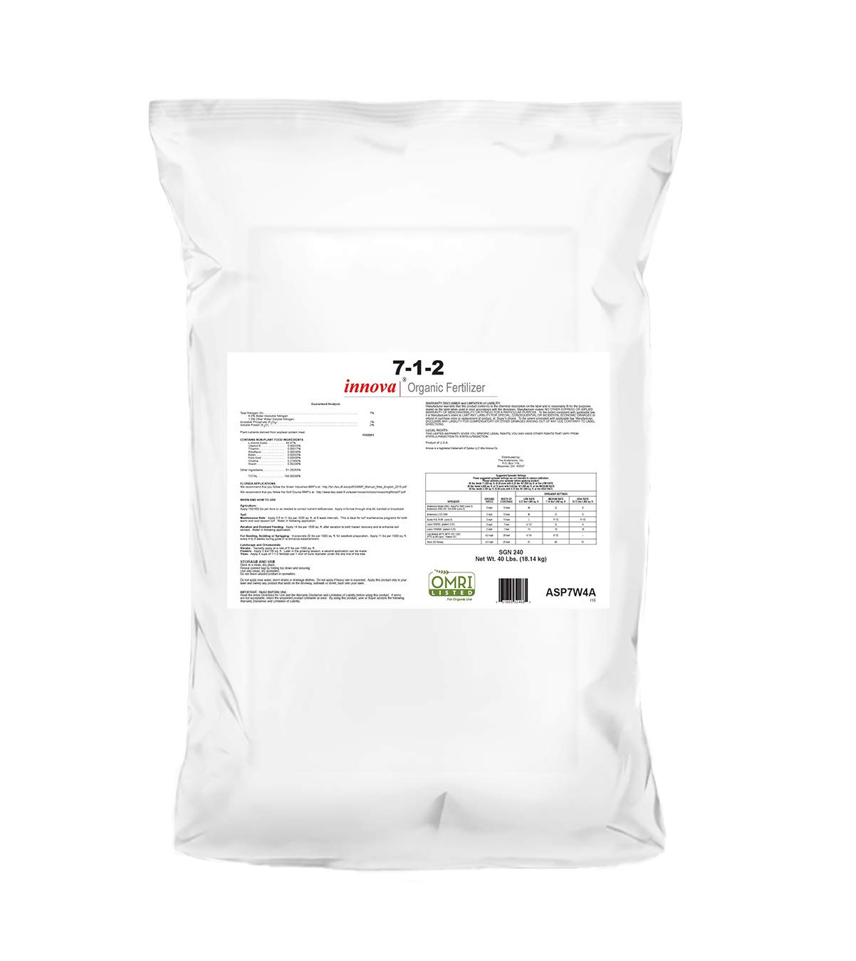 The Andersons 7-1-2 Innova Organic Fertilizer (40lbs) by The Andersons