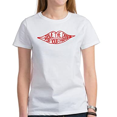 4235d7c41 CafePress Save The Drama for Your Mama Classic Tshirt: Amazon.co.uk:  Clothing