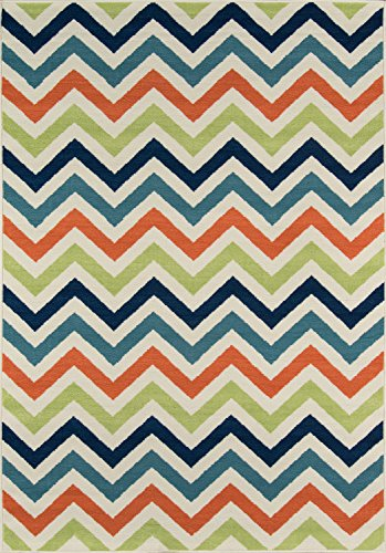 Momeni Rugs BAJA0BAJ-9MTI3B57, Baja Collection Contemporary Indoor & Outdoor Area Rug, Easy to Clean, UV protected & Fade Resistant, 3'11