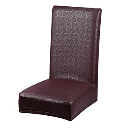 demiawaking fundas bielásticas de silla de comedor asiento de piel ...