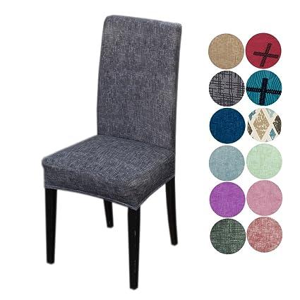 Inroy elásticas Fundas para sillas Cubiertas de la sillas lavable ...