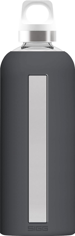 Sigg Star Shade Botella cantimplora (0.85 L), Botella hermética sin sustancias nocivas, Botella de Vidrio Resistente al Calor con Funda de Silicona