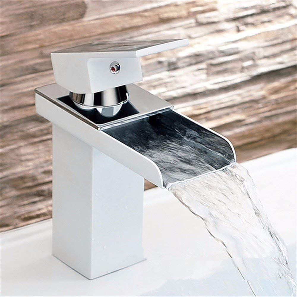 Oudan Simple shower sanitary ware faucet break waterfall faucet hot and cold faucet bathroom (color   -, Size   -)