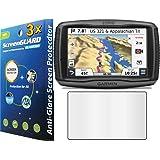"3x Garmin Zumo 590 590LM 5.0"" GPS Premium Anti-Glare Anti-Fingerprint Matte Finishing LCD Screen Protector Cover Guard Shield Protective Film Kits (Package by GUARMOR)"