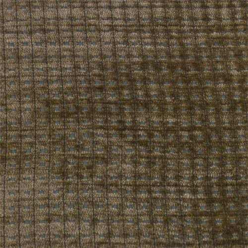 Merrimac Carob Brown Gridlock Chenille Upholstery Fabric, Fabric by The Yard Brown Chenille Upholstery Fabric