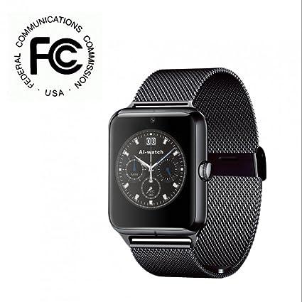 Reloj Inteligente Smartwatch con Cámara,ranura para tarjeta SIM,Monitor de Calorías,Notificación