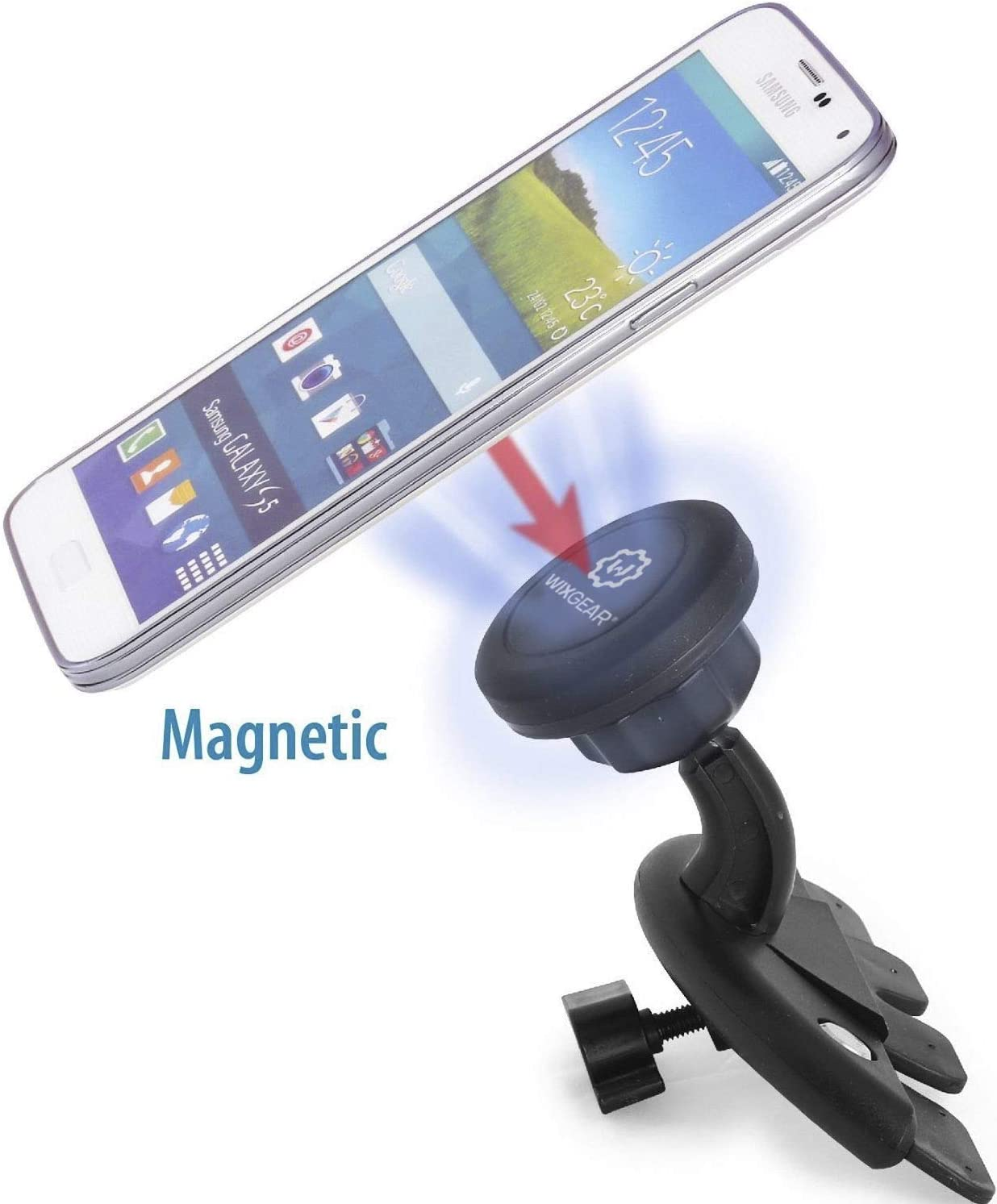 WizGear Universal Magnetic Car Mount Holder Magnetic Dashbord mount Windshield Mount and Dashboard Mount Holder for Cell Phones with Fast Swift-snap Technology Dashboard Mount New Version Dashboard Mount