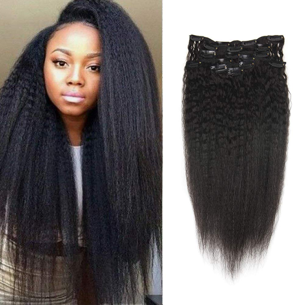 Amazon Full Shine 14 Kinky Straight Human Hair Extensions