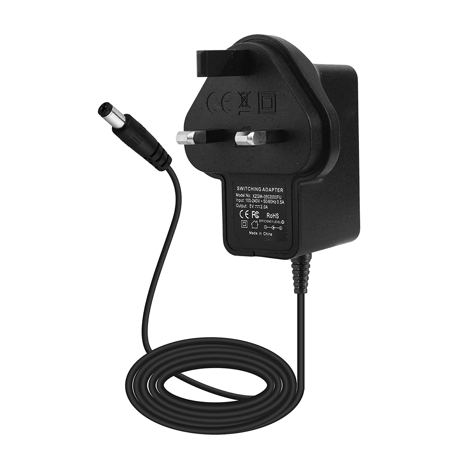 EFISH 5V 2A 10W Switching Power Supply Adapter Wall Charger Interior Negro cargador de dispositivo m/óvil