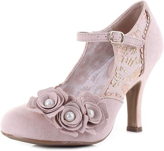Womens Ruby Shoo Imogen Rose High Heel Court Shoes Size