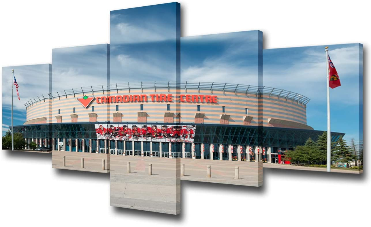 Amazon.com: Sports Stadium Wall Picture for Living Room Canadian Tire  Center Canvas Wall Art Ottawa Senators Team Match Place Prints Painting  Contemporary Artwork Home Decor 5 Panel Ready to Hang(50Wx24H inches):  Posters