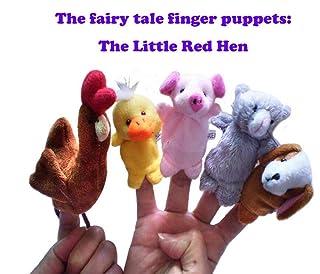 Burattini a Dito per Giocattoli Educativi, 5 Pezzi The Little Red Hen Panno Plush Doll Baby educativo Mano Cartoon Finger Puppets Set