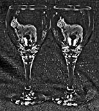 Muddy Creek Reflection French Bulldog Dog Laser Etched Wine Glass Set (2, TDW) Review