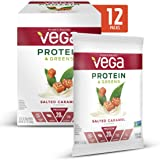 Vega Protein & Greens Salted Caramel (1.1 Ounce, Pack of 12) - Plant Based Protein Powder, Keto-Friendly, Gluten Free, Non Dairy, Vegan, Non Soy, Non GMO - (Packaging may vary)