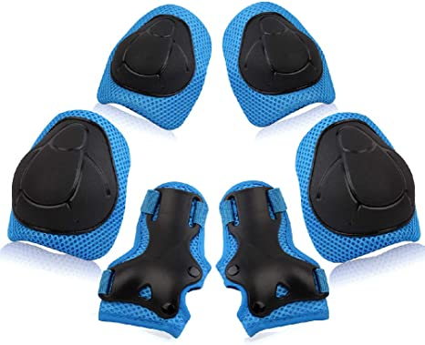 6//7pc Kids Girl Boy Safety Protective Knee//Elbow//Wrist Guard Gear Mat for Sport