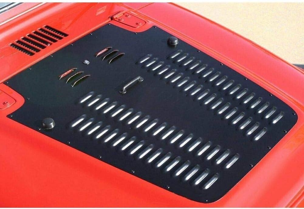 Qii lu Panneau de refroidissement du radiateur est ins/ér/é dans le panneau de refroidissement du radiateur du capot de ventilation du capot pour Wrangler TJ LJ