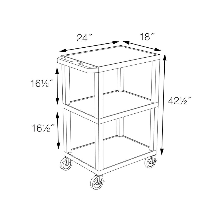 Amazon.com: Luxor estante, abierto Carrito con cajón de ...