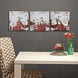 Home Centre Breeza Printed Square Picture Frame - Set of 3 Pieces - Multicolour