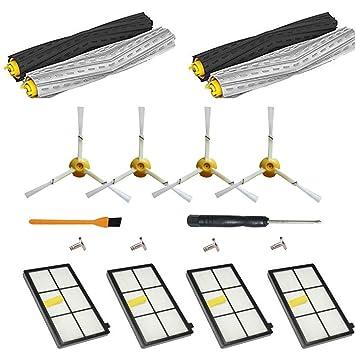 ... para Roomba 866 980 800 865 871 870 900 - Filtros y Cepillos Kit de Repuestos de Accesorios para iRobot Roomba 800/900 Serie Aspirador: Amazon.es: Hogar