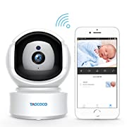 Baby Monitor Camera, Taococo IP Camera Wireless 1080P HD Home Security Camera for Baby Elder Pet Dog Monitor with Pan/Tilt Two-Way Audio,Night Vision,Motion Detection and Phone App Remote Control