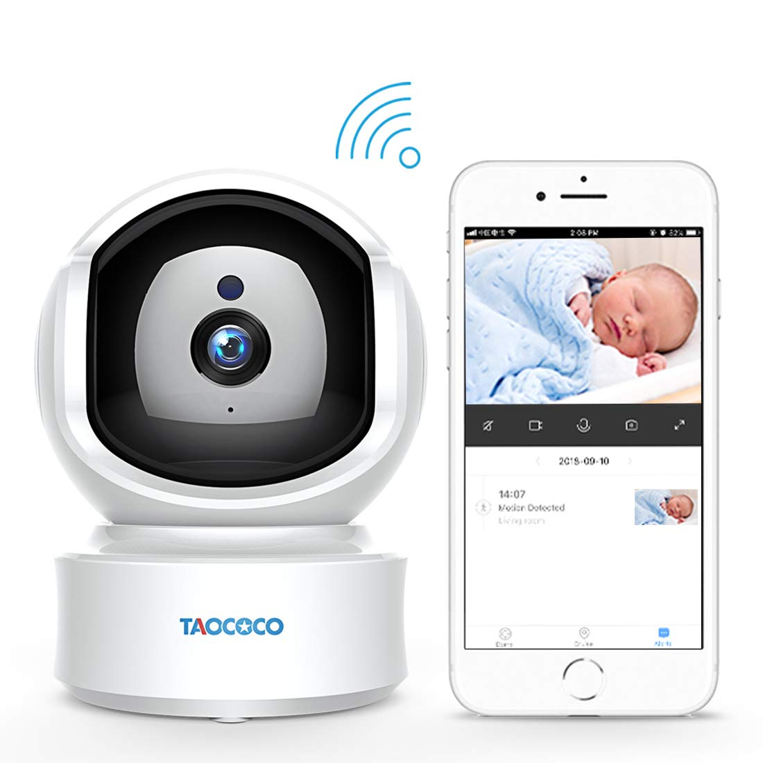 Baby Monitor Camera, Taococo IP Camera Wireless 1080P HD Home Security Camera for Baby Elder Pet Dog Monitor with Pan/Tilt Two-Way Audio,Night Vision,Motion Detection and Phone App Remote Control by FREDI (Image #1)