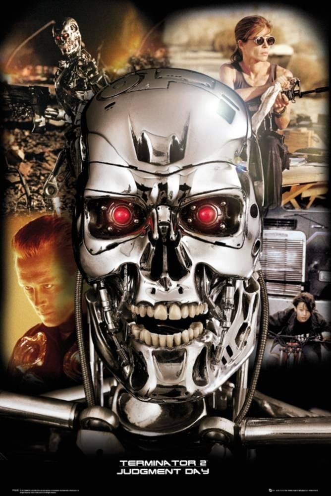 Terminator 2 - Collage Poster 24 x 36in