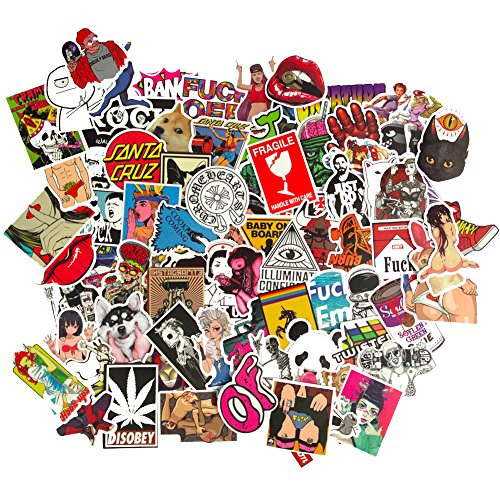 DreamerGO Cool Graffiti Stickers 100 Pieces Various Car Motorcycle Bicycle Skateboard Laptop Luggage Vinyl Sticker Graffiti Laptop Luggage Decals Bumper Stickers (Style B)