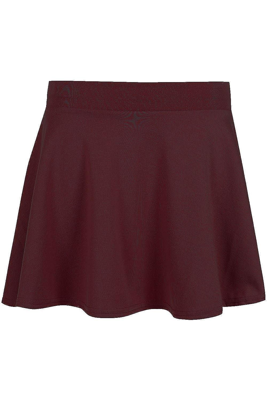 fd8bed2597 Amazon.com: Be Jealous Kid's Skater Skirt School Uniform High Waist Stretch  Swing Mini Skirt: Clothing