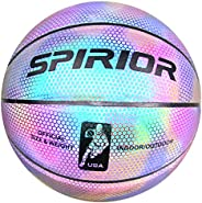 Reflective Basketball, Glows in a Dark Basketball Indoor Outdoor Leather Basketball, Special Basketball Gifts