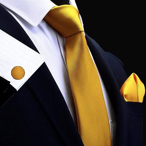 LUHELDM Seda Conjunto de Corbata de Hombre sólido 8 cm Corbatas ...