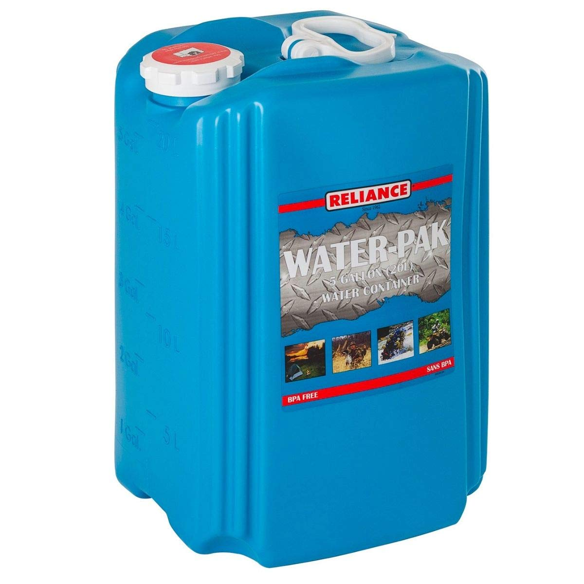 Reliance Aqua-Pak 19L Water Container (5 Gal,11.59 x 9.13 x 15.38 Inches, 2 Packs) by Reliance Products